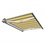 Store banne manuel Demi coffre pour terrasse - Gris jaune - 4 x 3 m