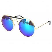 Vintage zonnebril rond met goud montuur