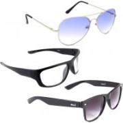 Elligator Aviator, Sports, Wayfarer Sunglasses(Blue, Black, Clear)