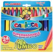 Carioca viltstift Jumbo Superwashable 24 stiften in een kartonnen etui