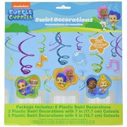 Bubble Guppies Hanging Swirl Decorations (12pc)