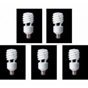 5 Lámparas Ahorradora PANASONIC 25w Luz Cálida Foco