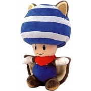 "Blue Flying Squirrel Toad ~8"" Plush: New Super Mario Bros. U Series"