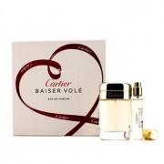 Baiser Vole Coffret: Eau De Parfum Spray 50ml/1.6oz + Eau De Parfum Spray 9ml/0.3oz 2pcs Baiser Vole Комплект: Парфțм Спрей 50мл + Парфțм Спрей 9мл