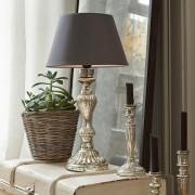 LOBERON Tafellamp Lorey / antiekzilverkleurig
