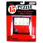 15 FIFTEEN PUZZLE Number Slide Sliding Brain Teaser Classic IQ Test Toy Game For Ages 8+