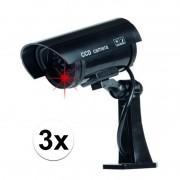 Grundig 3x stuks dummy beveiligingscameras draadloos - Dummy beveiligingscamera