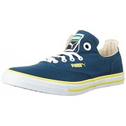 Puma Unisex Limnos Cat 3 IDP Blue Wing Teal, Blazing Yellow and Glacier Grey Sneakers - 11 UK/India (46 EU)