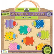 Innovative Kids Green Start Chunky Wooden Puzzles: Swish Fish Puzzle