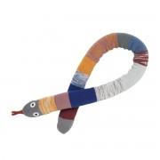 ferm LIVING - Mini Mr. Snake Kissen, dusty rainbow