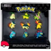 Pokemon Evolution Chikorita, Cyndaquil & Totodile, Set 9 figurine