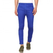 PAUSE Sport Blue Solid Dry-Fit Slim Fit Ankle Length Track-Pant