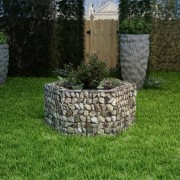 vidaXL Vaso para plantas hexagonal 100x90x50 cm