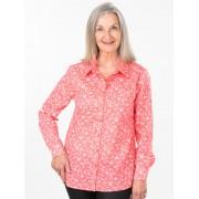 Seniors' Wear Peach Dot Daisy Blouse