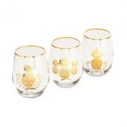 Hoff Interieur Gläser Ananas 3er Set
