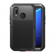 LOVE MEI Dust-proof Shock-proof Splash-proof Powerful Metal Defender Case for Huawei P20 Lite / Nova 3e - Black