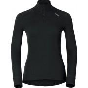 Odlo Bl Top Turtle Neck L/S Half Zip Active Warm Dames Thermoshirt - Black - Maat XL