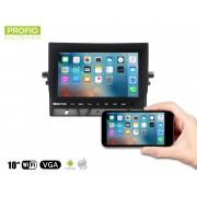 """10,1 """"WiFi LCD monitor do auta - Mirror Link s možností připojit 2x couvací kameru"""