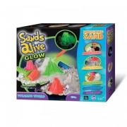 Sands Alive Glow világító vulkán homokgyurma készlet - Sands Alive készletek