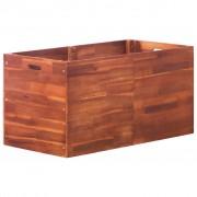 vidaXL Jardinieră de grădină, lemn de acacia, 100 x 50 x 50 cm
