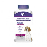ADULT HIP & JOINT WITH GLUCOSAMINE 500MG & CHONDROITIN 100MG FOR DOGS (Savory Flavor) 120 Chewables
