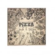 Cutii Pizza Natur, Model Pizza Fresh & Tasty, Dimensiune 32x3.5x32 cm, 100 Buc/Bax - Ambalaje Carton