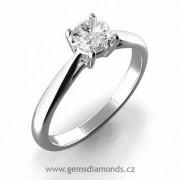 Luxusní zásnubní prsten s diamantem Anna, bílé zlato