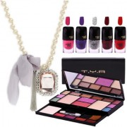 Adbeni Makeup Artist Combo Sets With Pearl White Metal Necklace