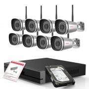 Kit videosorveglianza 1080P Foscam HD con NVR 9CH e 8 cam da esterno