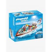 Playmobil 9428 Lancha com motor subaquático, da Playmobil castanho medio liso