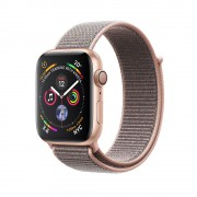 Apple Watch Series 4 GPS - 44mm Gold Aluminum Case with Pink Sand Sport Loop - MU6G2