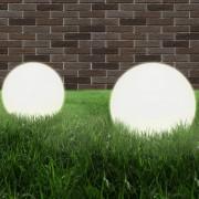 vidaXL 2 db LED gömblámpa 40 cm PMMA