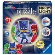 Puzzle 3D luminos Eroi in Pijamale M1 72 Piese