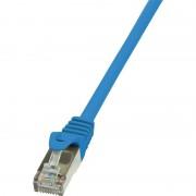 Cablu F/UTP Logilink Patchcord Cat 5e 3m Albastru