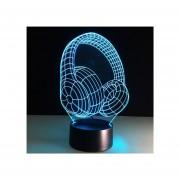 Pixnor Lámpara 3D Efecto De Luz Visual Interruptor Táctil Colores Cambia Luz De Noche - Auricular