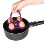 Suport siliconic pentru fierbere oua cu timer