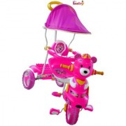 Oh Baby Baby pooh shape Musical With Tubeless Tyre 2 In 1 Function pink Color Tricycle For Your Kids SE-TC-51
