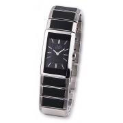 Luxusní dámské keramické náramkové hodinky JVD steel W22.2 (černá keramika)