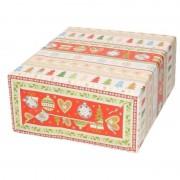 Bellatio Decorations Kerst inpakpapier wit met bomen/rendieren print 200 x 70 cm