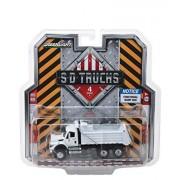 2018 International WorkStar Construction Dump Truck White S.D. Trucks Series 4 1/64 Diecast Model by Greenlight