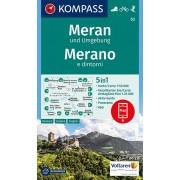 Wandelkaart 53 Meran und Umgebung - Merano e dintorni | Kompass