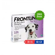 Frontline Top Spot Large Dogs 45-88lbs (Purple) 3 Pipette + 1 Pipette Free