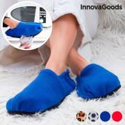 Papuci cu incalzire la microunde - Albastru