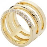 Gab & Ty by Jana Ina Accessori Anelli Triplo anello con cristalli bianchi placcato in oro giallo Gr.17 1 Stk.