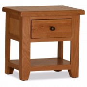 Orland Oak 1 Drawer Lamp Table – Assembled
