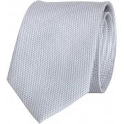 Krawatte Seide Silber Grau Motiv - Grau