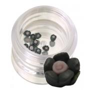 Flori negre din material ceramic pentru NailArt – 3 mm 01
