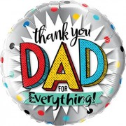 """Qualatex """"Thank You Dad For Everything Foil Round 18in/45cm"""""""
