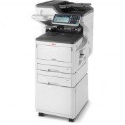 Imprimanta oki Multifunctional laser color OKI MC853dnct, A3, Tava suplimentara + Cabinet