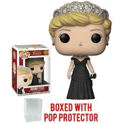 Funko Pop! Royals: The Royal Family - Diana Princess of Wales Vinyl Figure (Bundled with Pop Box Protector Case)